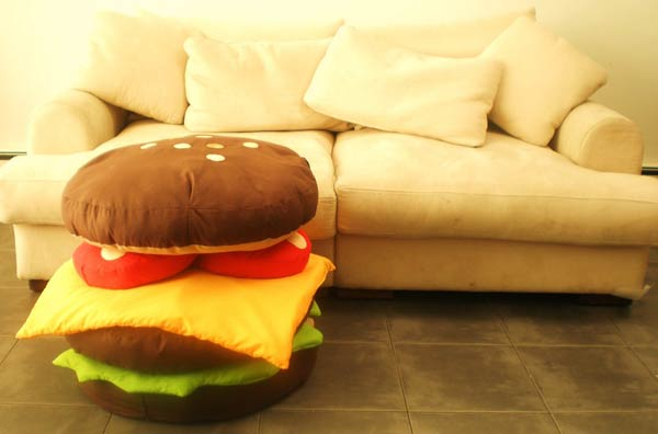 hamburger-cushions